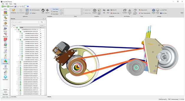 CAD Model mode for viewing Components and Assemblies with their Meta-Data