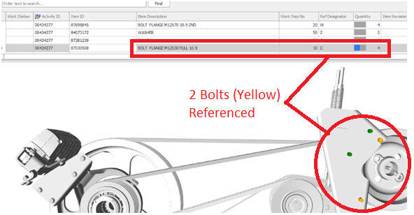 Instance mapping feature allows each bolt to be directly  reference to a specific Activity or Workstep.
