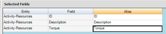 Selected Fields For Pivot Export